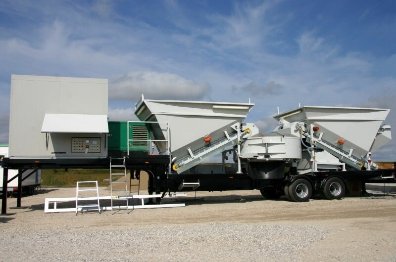 Produktion af beton til fjerntliggende byggepladser