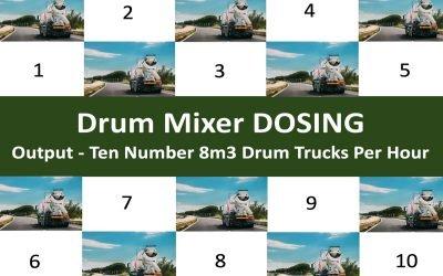 Drum Mixer Concrete Dosing Plant